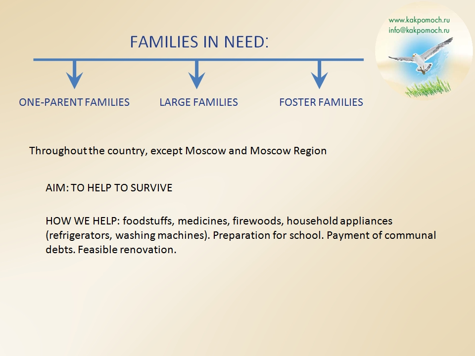FAMILIES IN NEED
